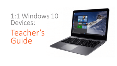 1 to 1 devices for teachers